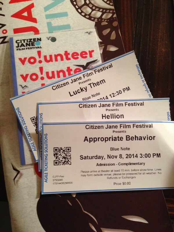 a personal recount on volunteering at the citizen jane film festival